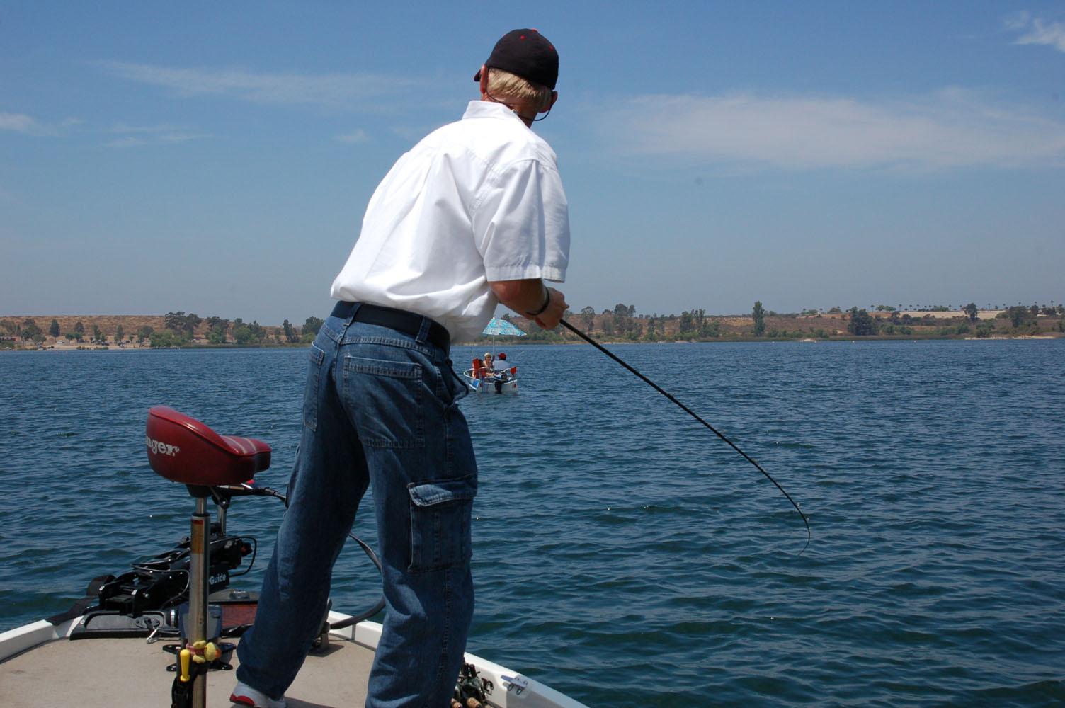 Otay the key to san diego team open kramer gone fishing for Otay lakes fishing